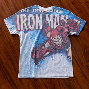 2009 Marvel Iron Man All Over Print Tee
